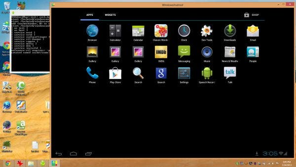 Android 4.0 Ice Cream Sandwich als Windows App mit WindowsAndroid