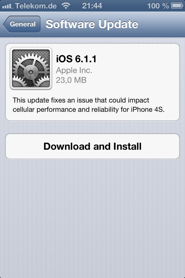 Apple veröffentlicht iPhone 6.1.1 mit Korrektur für UMTS-Konnektivitätsprobleme