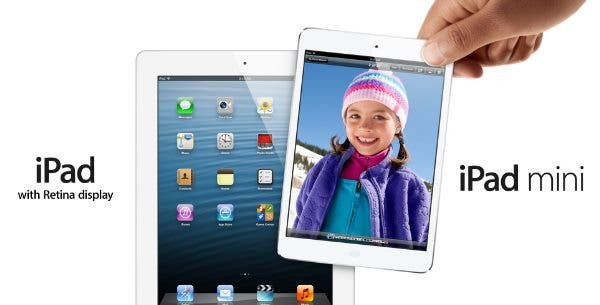 Retina Display laesst Apple iPad mini Marge schmelzen
