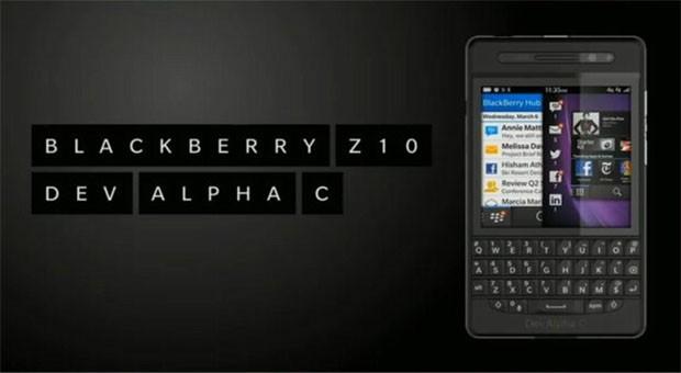Blackberry Dev Alpha C mit physischer Tastatur vorgestellt
