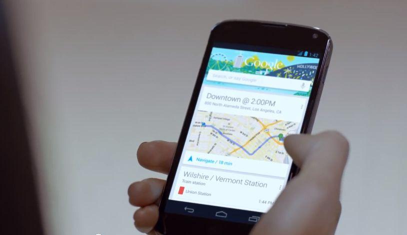 Google Nexus 4: Neue Werbung zeigt Google Now