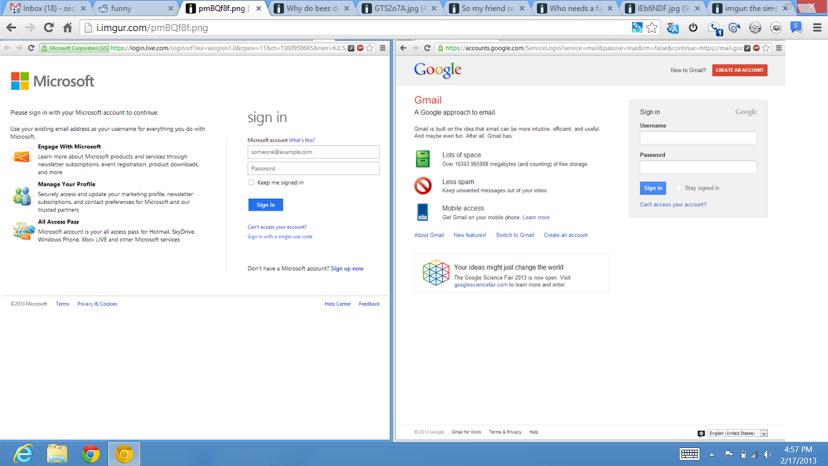Microsoft vs Google: Wer klaut hier bei wem?