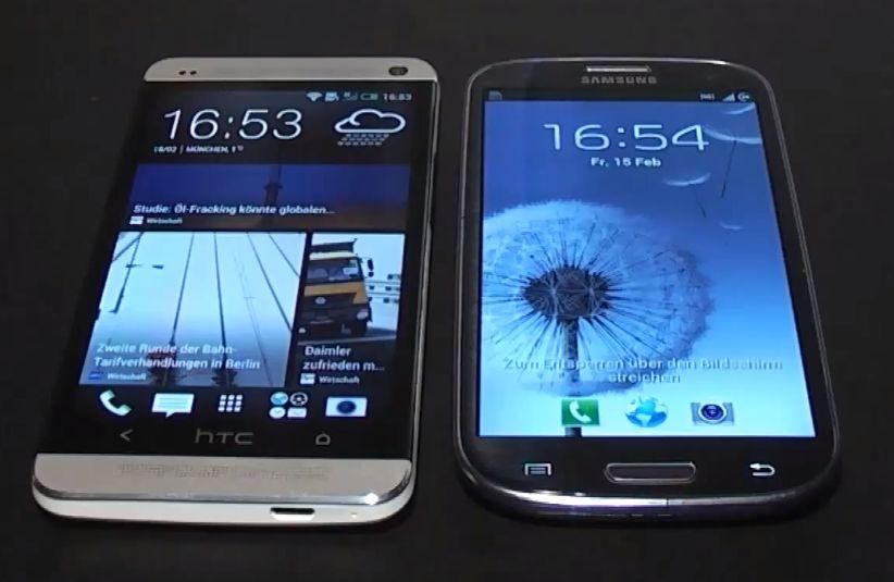 HTC One (M7) und Samsung Galaxy S3 im direkten Vergleich