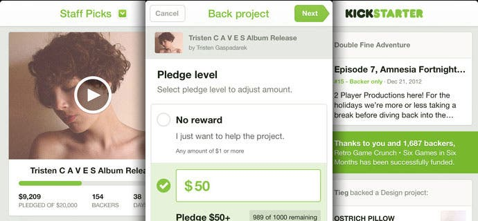 Kickstarter kommt mit iPhone App