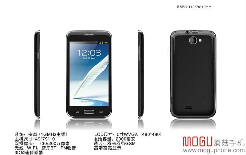 Mogu S1: 5-inch Android Phablet für unglaubliche 36 Euro in China