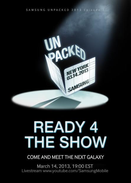 Bestätigt: Samsung Galaxy S4 wird am 14. März in New York vorgestellt