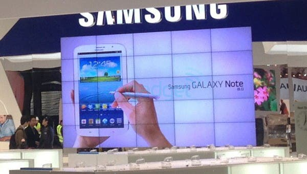 galaxy note 8 messestand 01 MWC 2013: Samsung Galaxy Note 8.0 gesichtet *Update: neue Fotos*