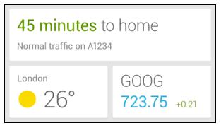Hinweis auf Google Now Widget aufgetaucht
