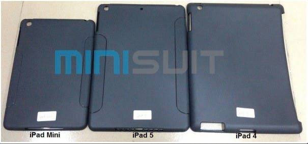 iPad 5 case leak iPad 5 vs iPad mini vs iPad 4 605x283 Apple iPad 5 Case geleakt   Launch im Juni?!