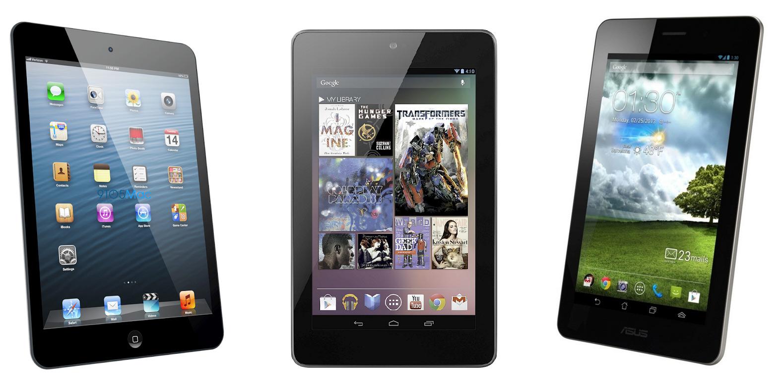 MWC: ASUS Fonepad im Vergleich mit Apple iPad Mini & Google Nexus 7