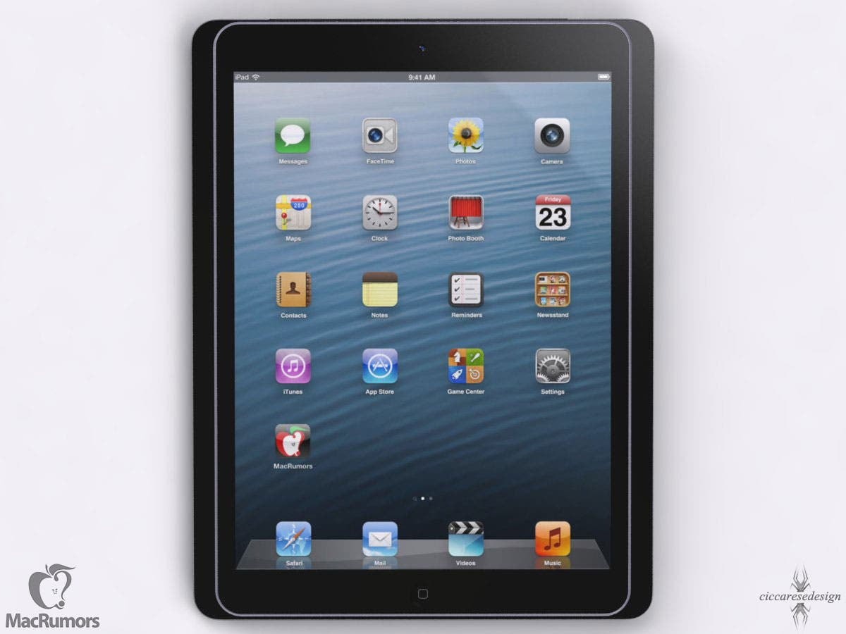 So könnte das Apple iPad 5 aussehen