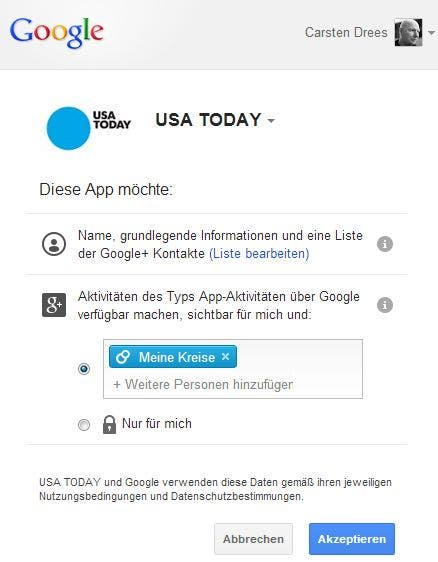 sign in usa today Google startet neuen Dienst: Google+ Sign in