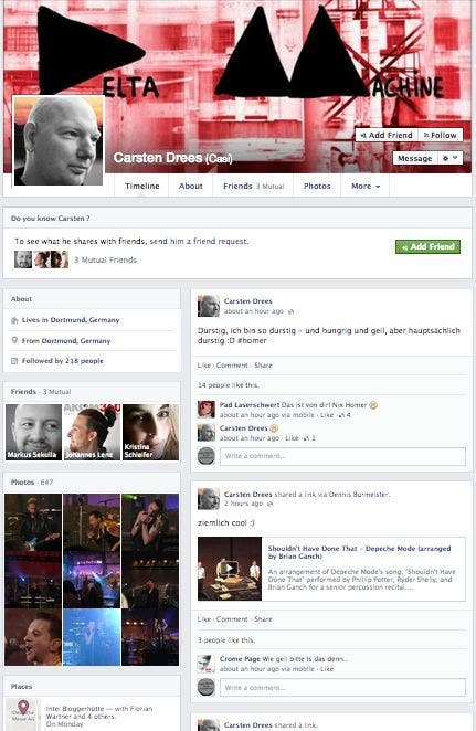 Facebook Timeline Casi Facebook erhält neue Timeline