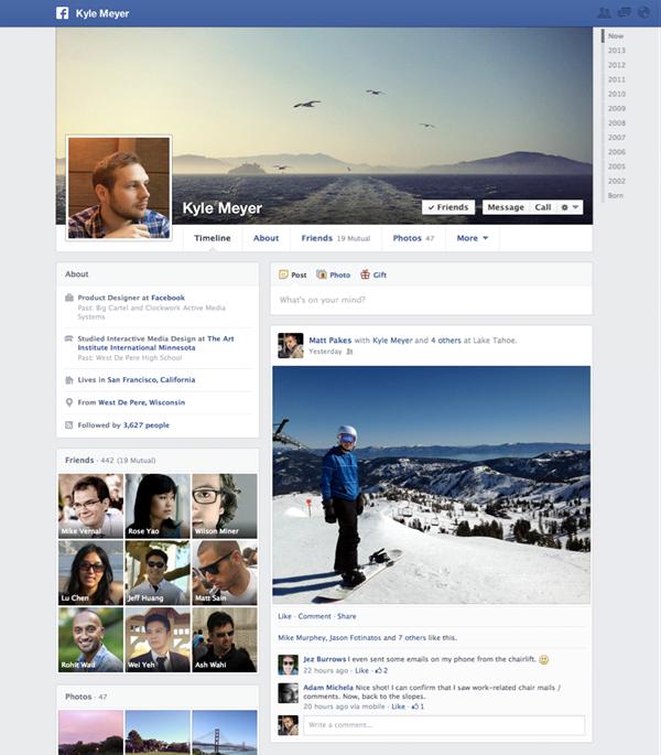 Facebook erhält neue Timeline