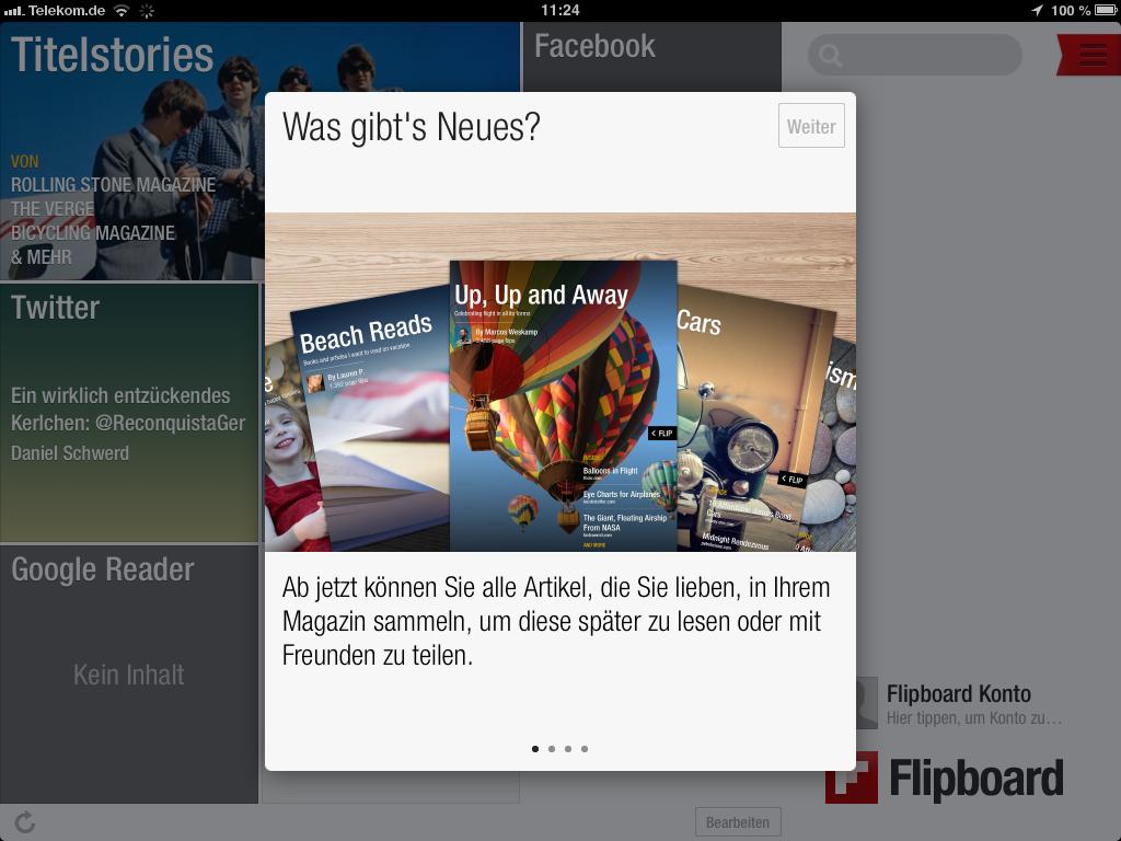 Flipboard 2.0: Update ermöglicht eigene Magazine