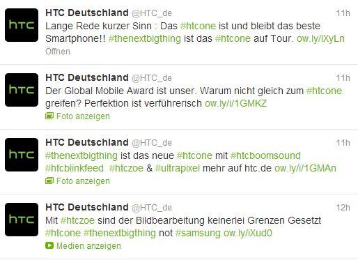 HTC Deutschland Twitter HTC lästert über das Samsung Galaxy S4