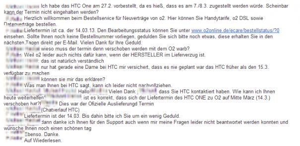 HTC One bei o2 erst ab 14