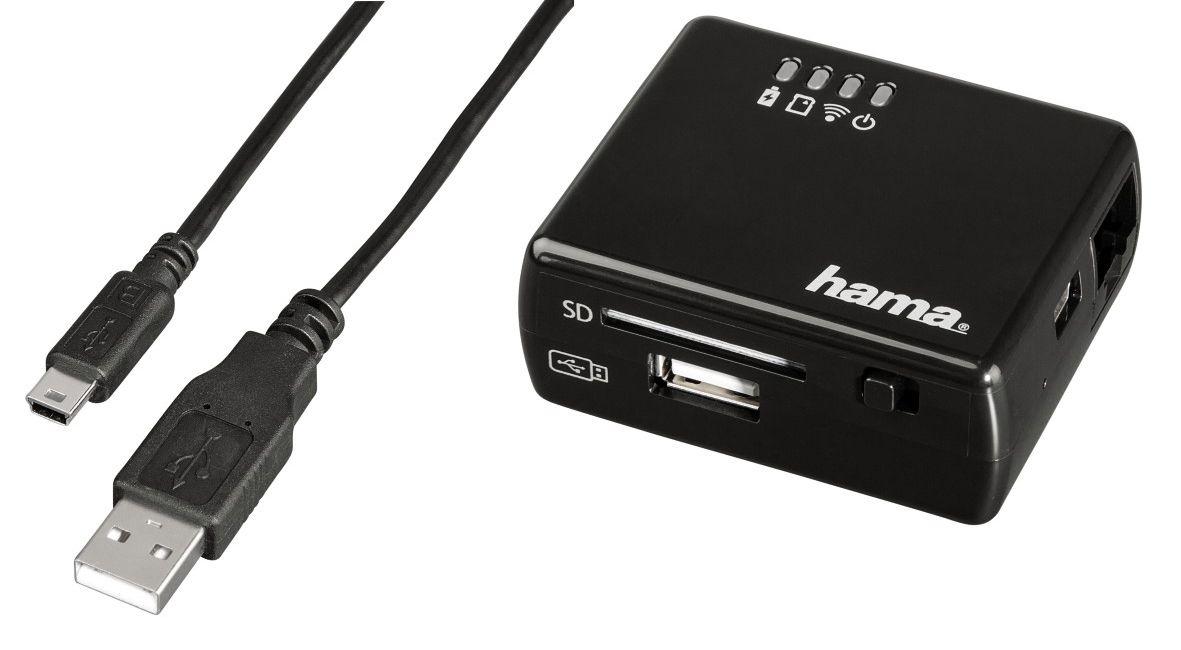 Hama WiFi-Datenleser für iPhone und iPad mit Router und Repeater