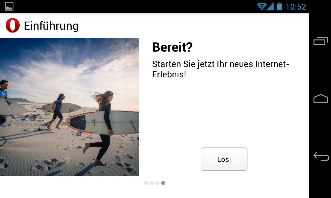 Opera Beta mit WebKit Engine für Android