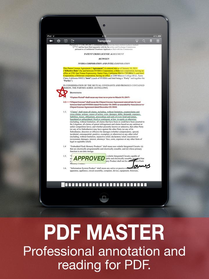 PDF Master Pro für iPad für kurze Zeit kostenlos
