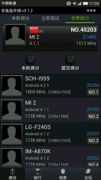 Samsung Galaxy S4 AnTuTu 340x605 Samsung Galaxy S4   Erster Benchmark des Exynos 5 Octa *Update*