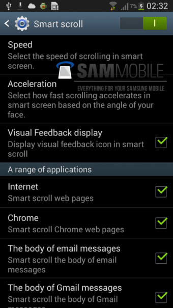 Samsung Galaxy S4 Smart Screenshot 01 340x605 Samsung Galaxy S4: Screenshots verraten neue Smart Features