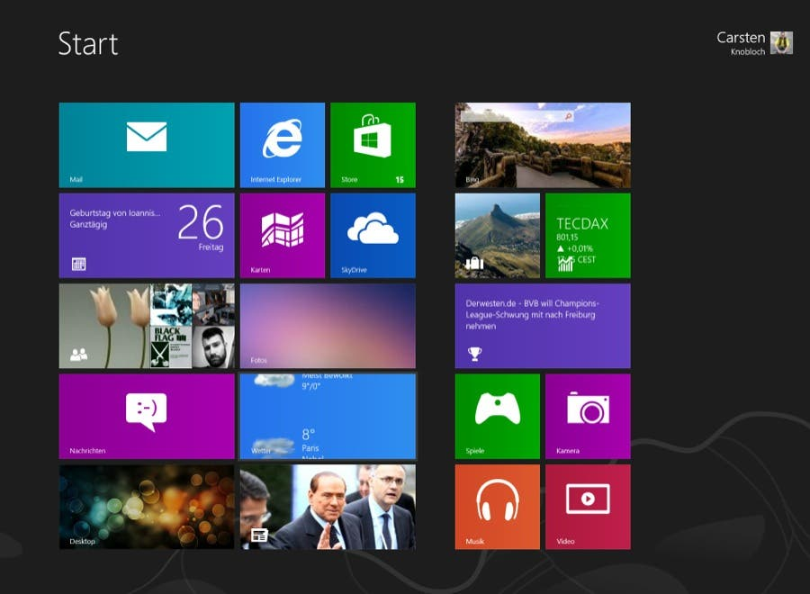 Windows 8: Updates für Mail, Calendar und People Apps