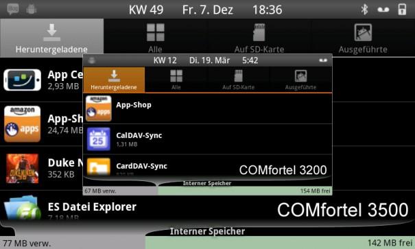 comfortel3200 28 605x363 Auerswald COMfortel 3200   Der kleine Bruder des 3500 im Test