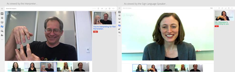 Google+ Hangouts mit Verbesserungen für Hörgeschädigte