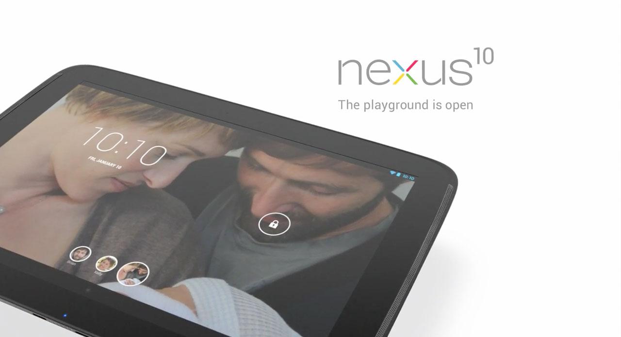 Neue Werbung für das Google Nexus 10