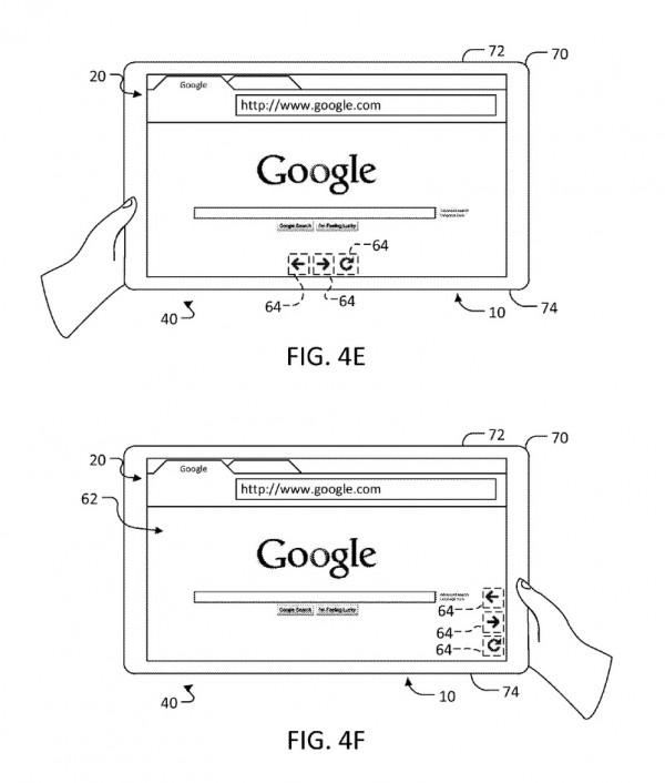 google patent adaptable ui 1 600x706 Google patentiert adaptives User Interface für Tablets mit berührungsempfindlichem Gehäuse