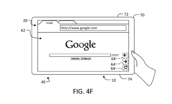 Google patentiert adaptives User-Interface für Tablets mit berührungsempfindlichem Gehäuse