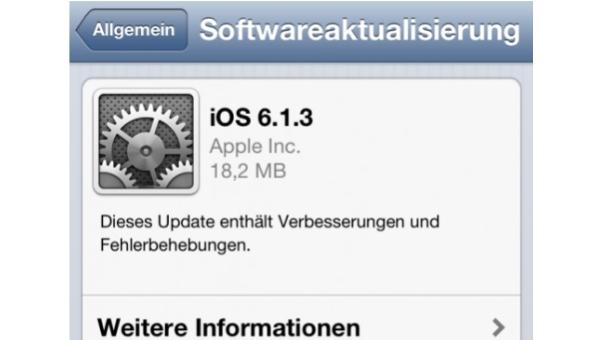 Apple: iOS 6.1.3 ist da – die alte Sicherheitslücke auch