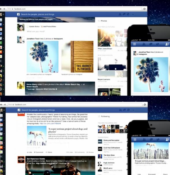 newsfeed facebook 02 589x605 Schöner, einheitlicher, vielseitiger   Facebook stellt neuen Newsfeed vor