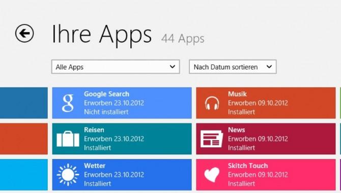 30.000 Apps im deutschen Windows Store, 50.000 gesamt