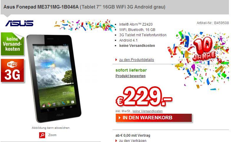 ASUS Fonepad in Deutschland für 229 Euro verfügbar