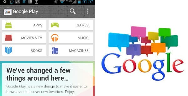 Google Babel Chat kommt und Google Play Redesign