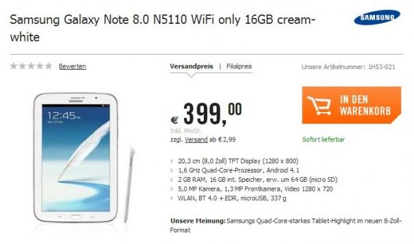 Samsung Galaxy Note 8.0 Cyberport