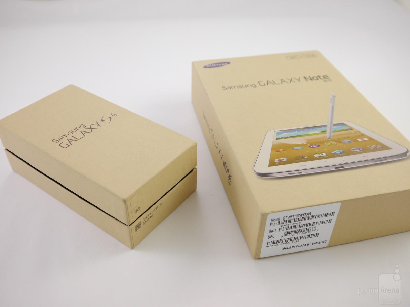 Samsung Galaxy S4 und Galaxy Note 8.0 im Unboxing