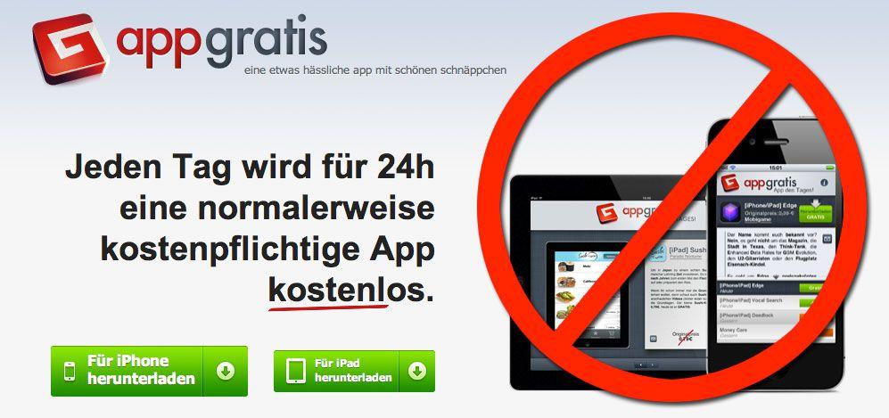 Wieder Ärger mit den App Store Richtlinien: AppGratis aus dem iTunes App Store gekickt