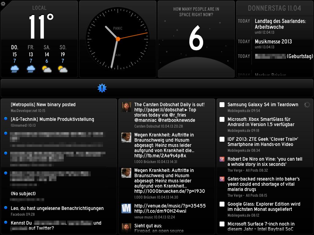 Status Board für iPad
