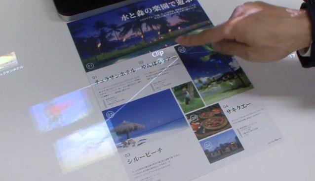 Fujitsu Technologie macht aus Papier einen Touchscreen