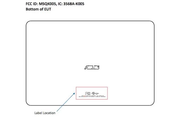 ASUS K005 Tablet lässt sich bei der FCC blicken