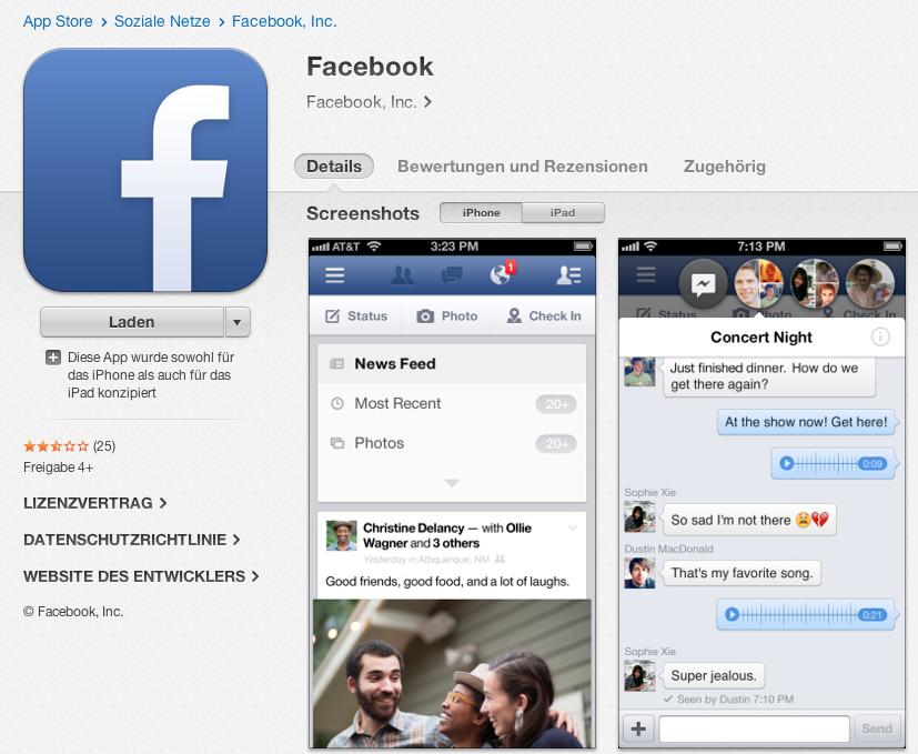 Facebook für iOS erhält neues Icon – und verliert es direkt wieder