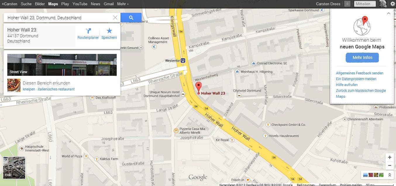 Google Maps Neu 04 Das neue persönliche Google Maps ist da