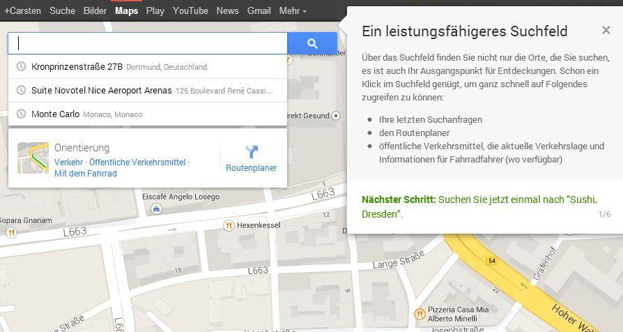 Google Maps Neu 05 Das neue persönliche Google Maps ist da