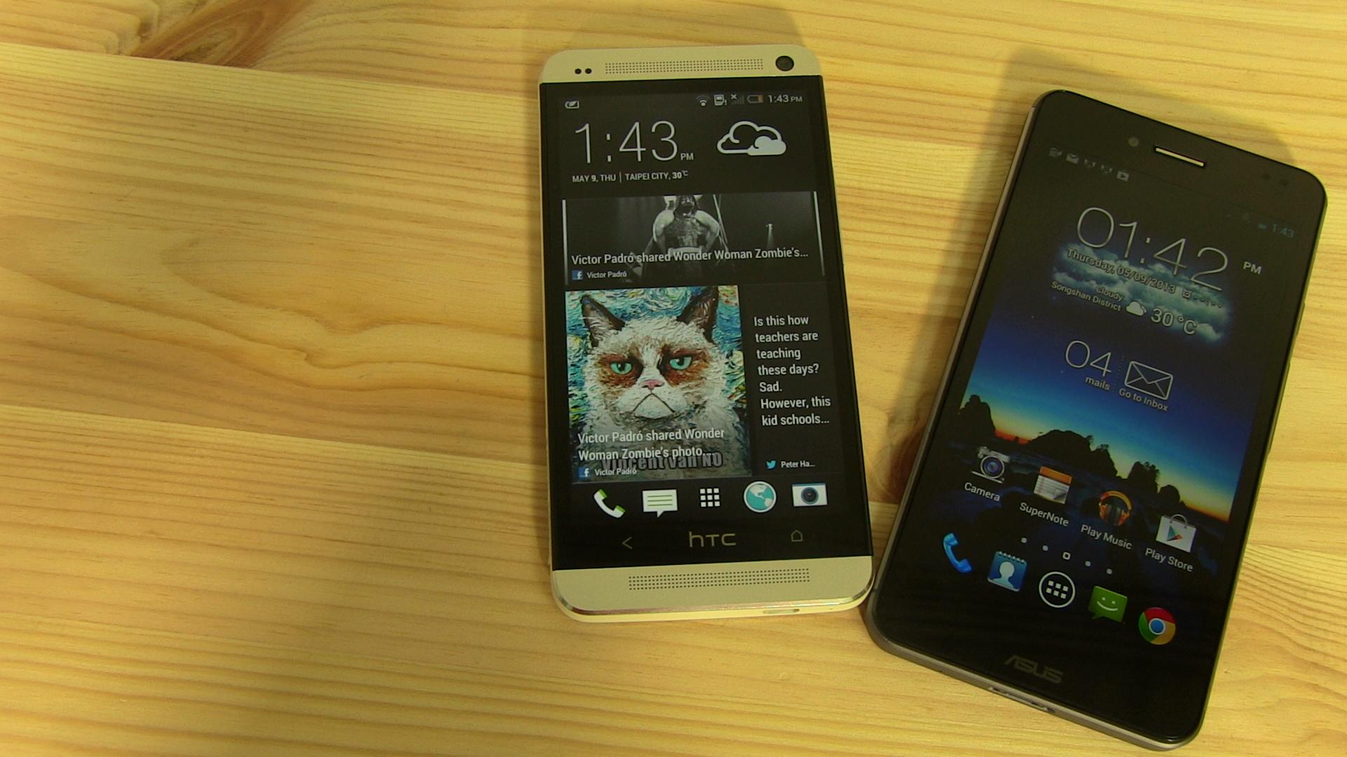 ASUS Padfone Infinity und HTC One im direkten Vergleich