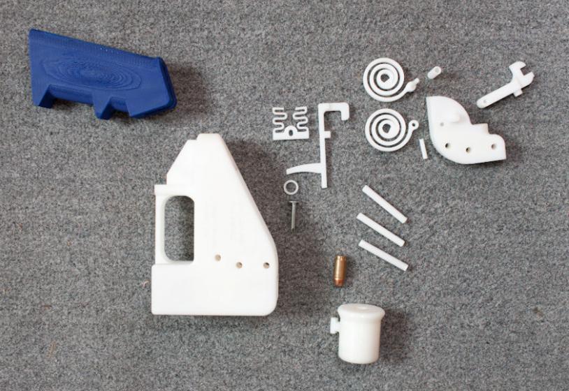 Druckvorlage für Pistole aus 3D-Drucker gelöscht