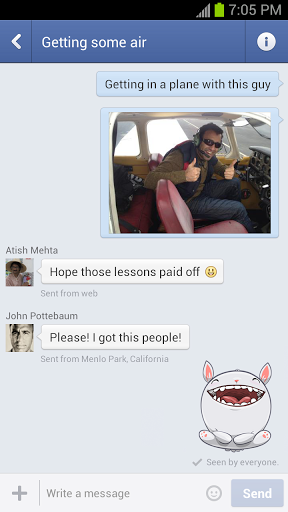 unnamed 1 Facebook App fuer Android Update   Chat Stickers und neues Layout fuer Firmenseiten