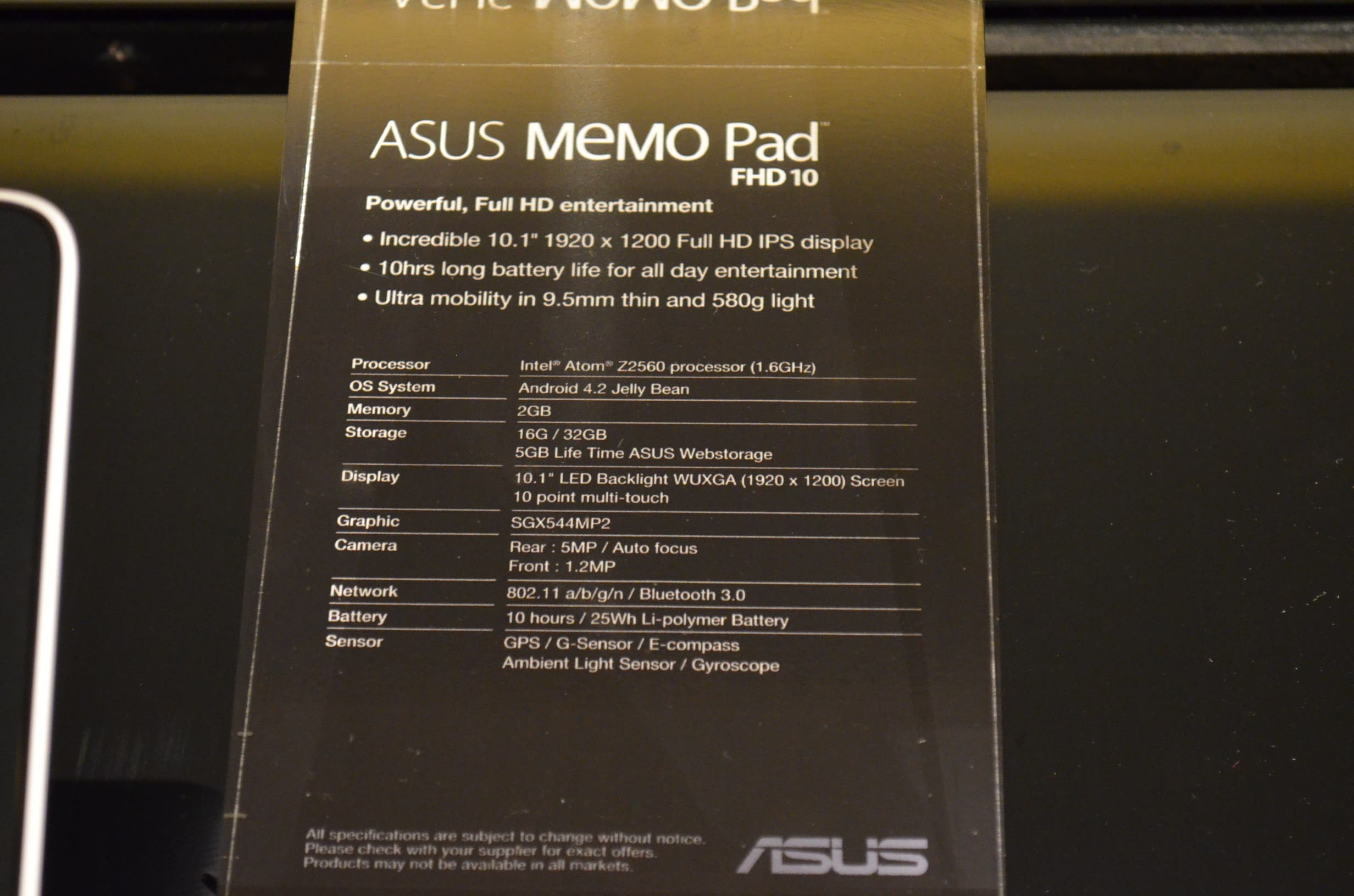 ASUS MeMo Pad FHD 10 1 Computex   ASUS MeMo Pad FHD 10 Hands On [Video]